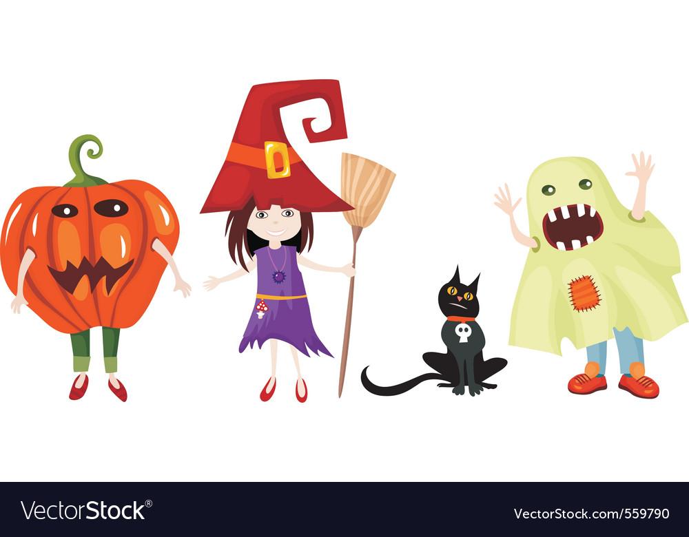 Halloween cartoons Royalty Free Vector Image - VectorStock