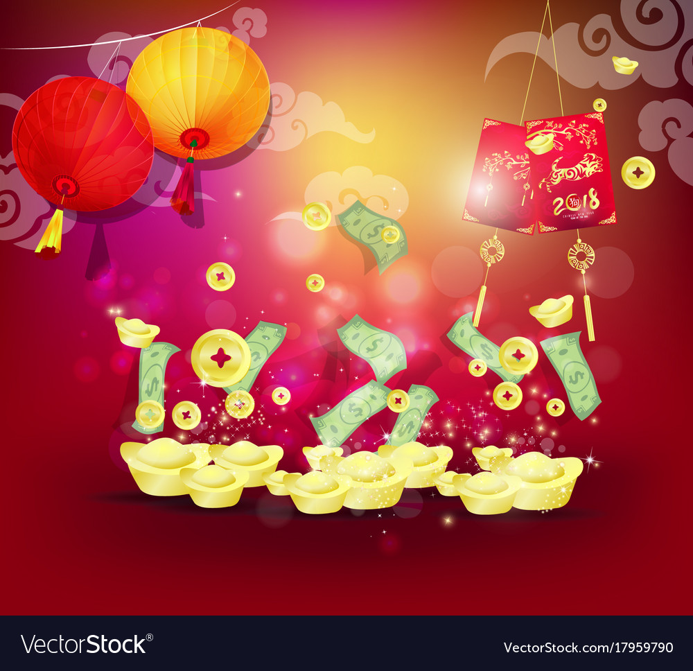Happy new year 2018 greeting card chinese new vector image kristyandbryce Images