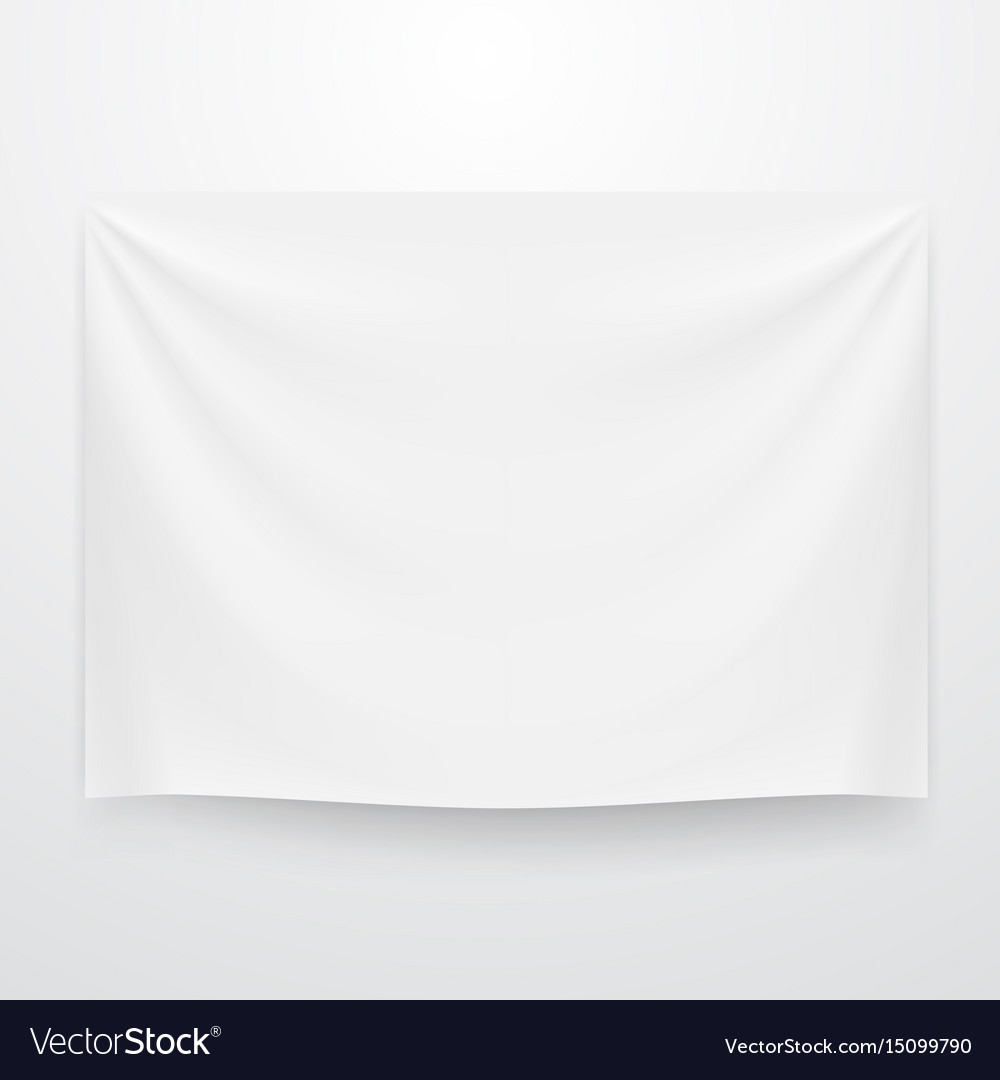 White clear textile banner template vector image
