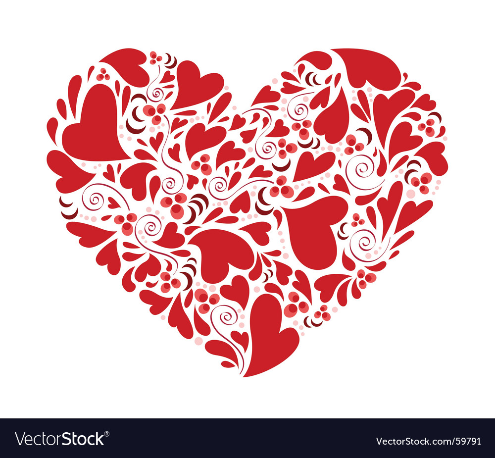 Hearts within heart vector image