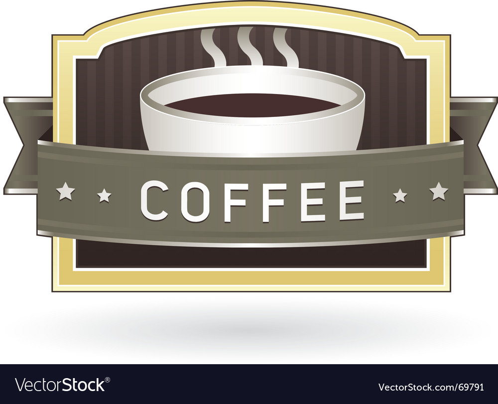Coffee package label vector image