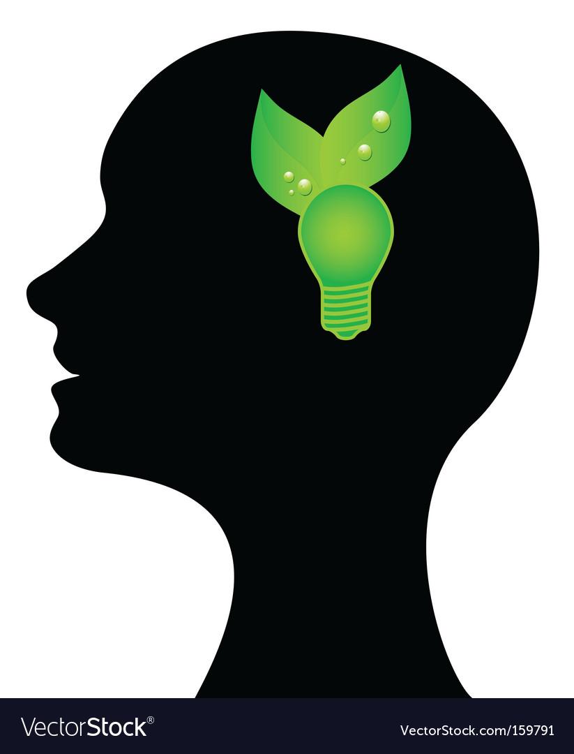 Conceptual illustration green idea vector image