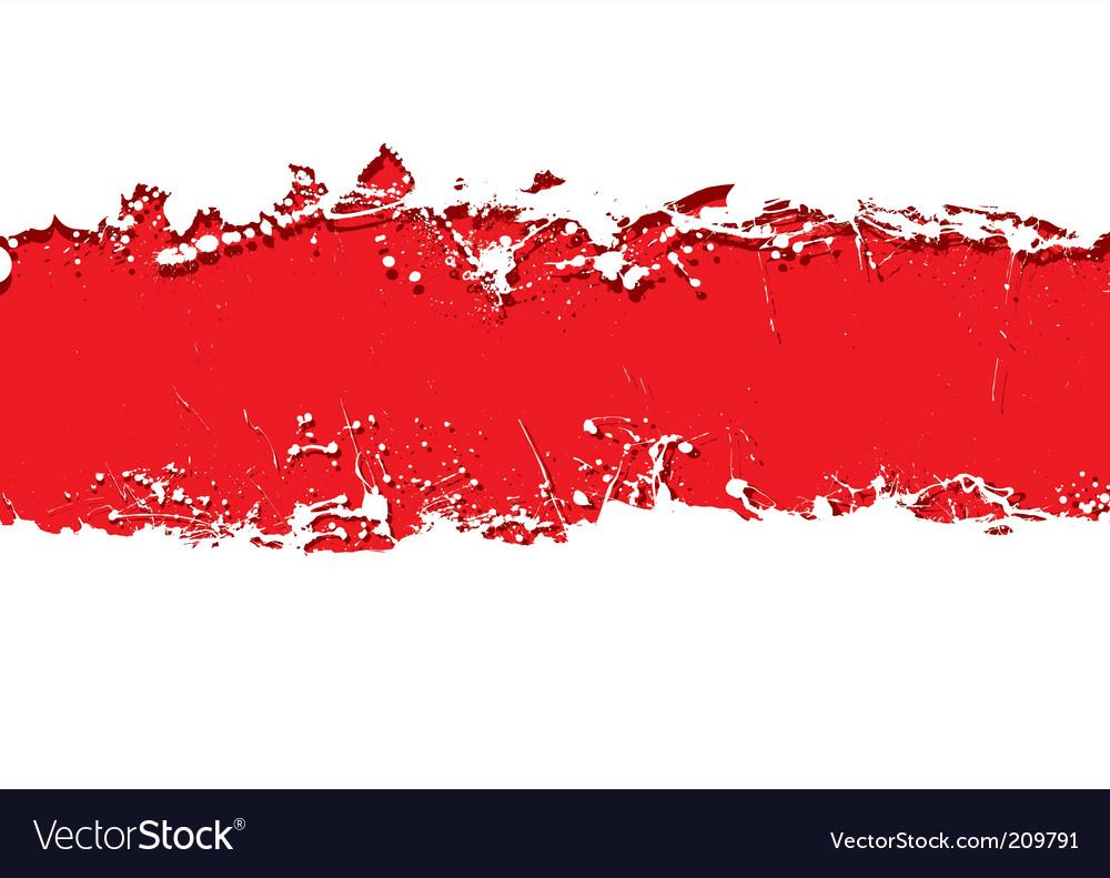 Grunge strip background blood vector image