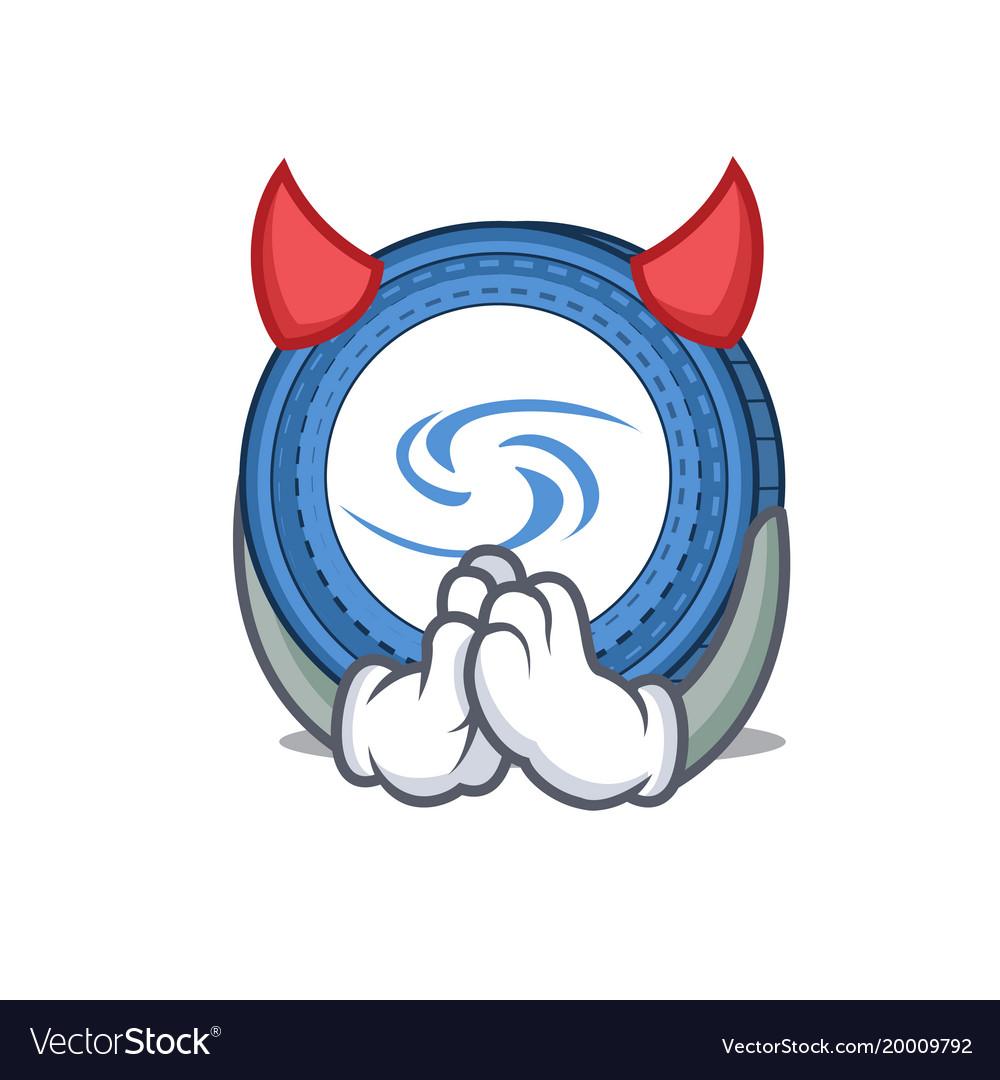 Devil syscoin mascot cartoon style vector image
