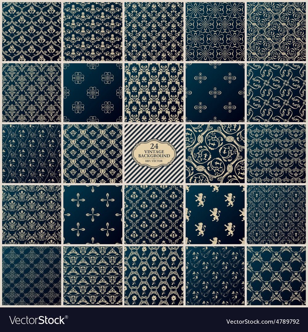 Vintage background Seamless pattern ornament vector image