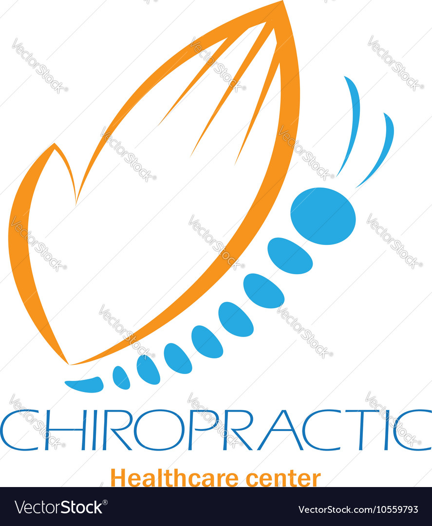 Chiropractic clinic logo with butterfly symbol of vector image chiropractic clinic logo with butterfly symbol of vector image biocorpaavc Image collections