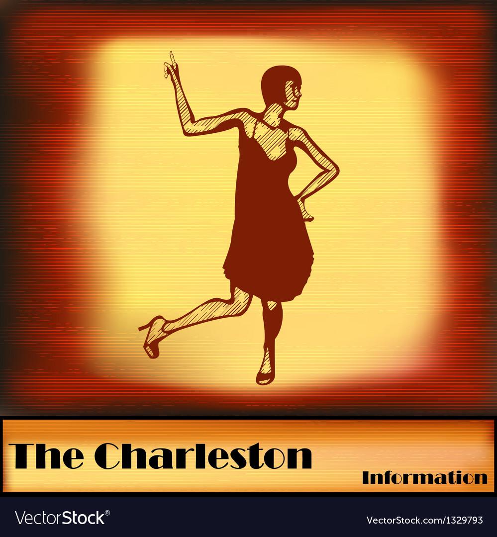 The Charleston vector image