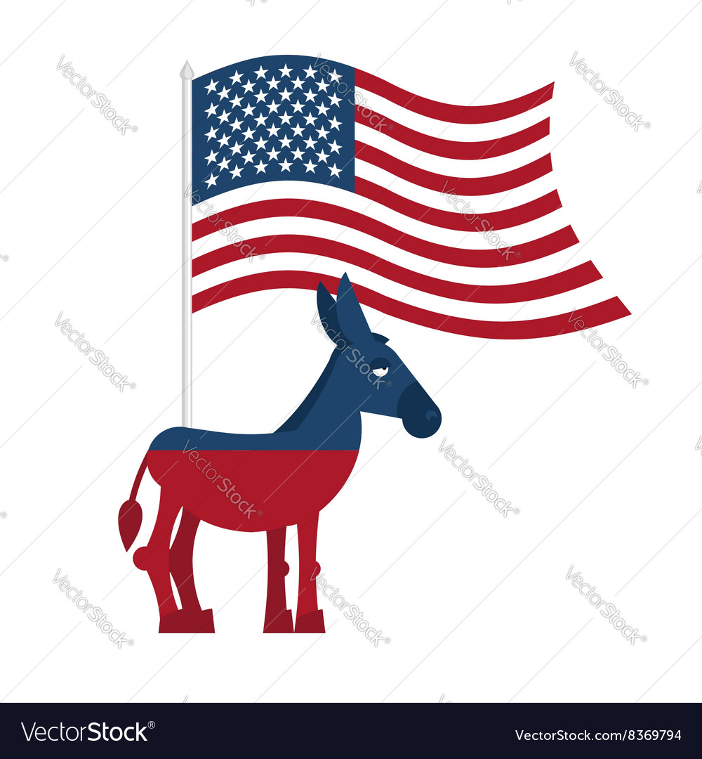Donkey democrat symbol of political party in vector image biocorpaavc Image collections