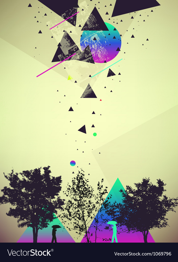 Futuristic art abstract background vector image