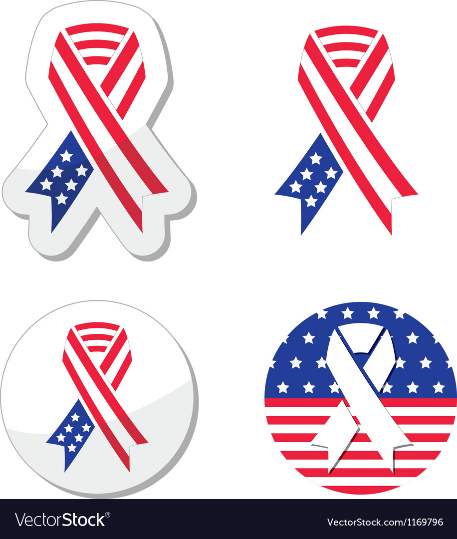 USA ribbon flag - symbol of patriotism Vector Image