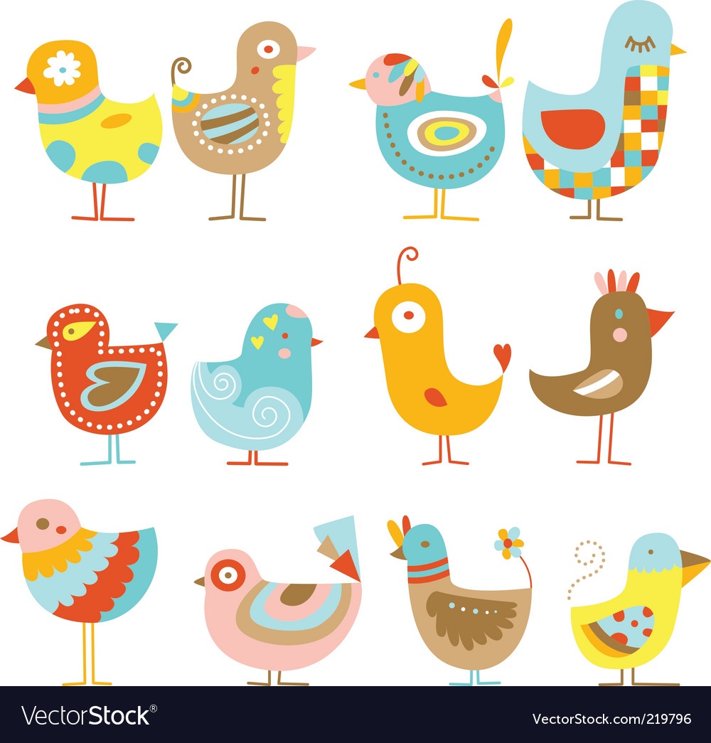 Cute chickens Vector Image
