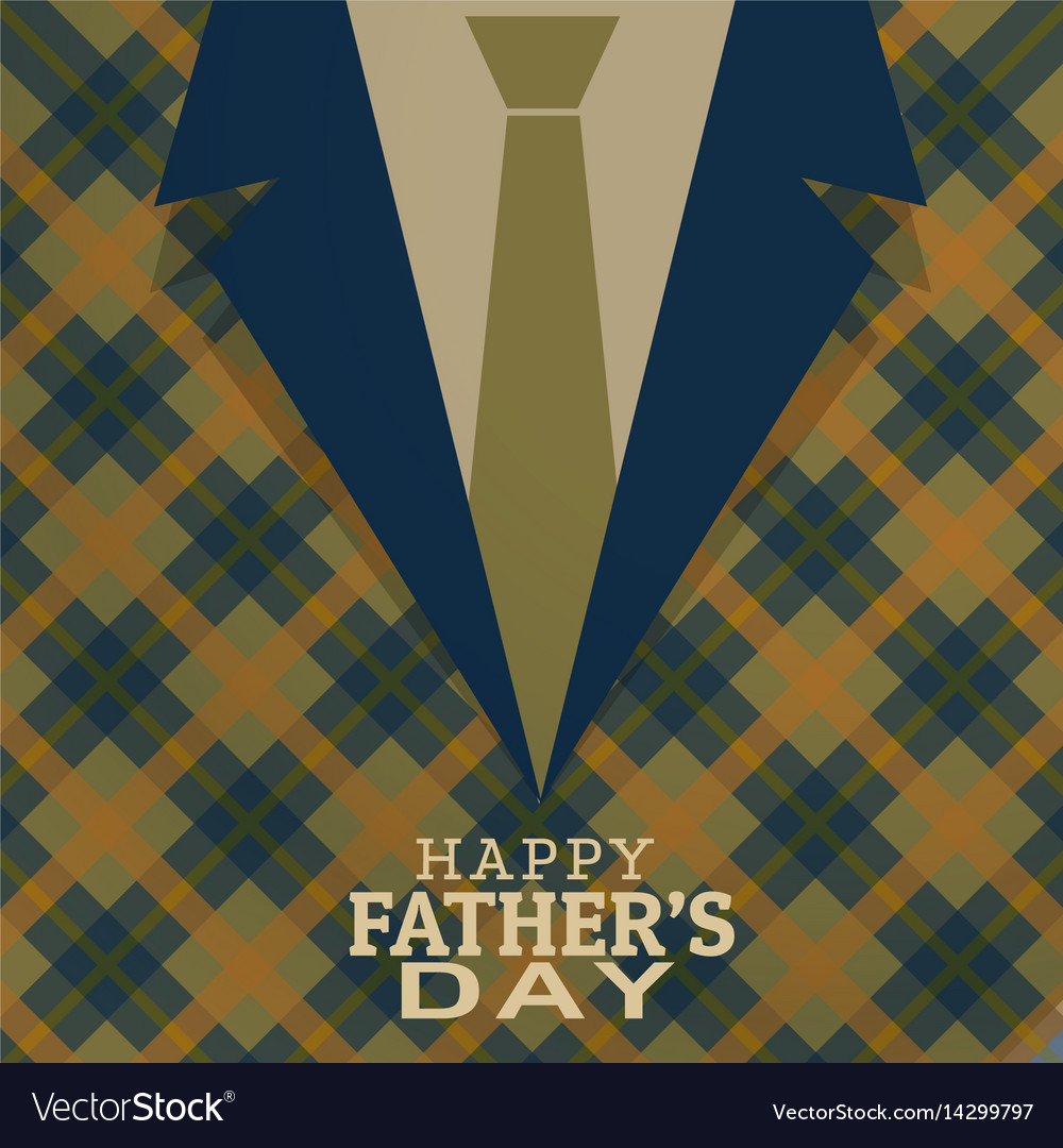 Happy fathers day card greeting vector image