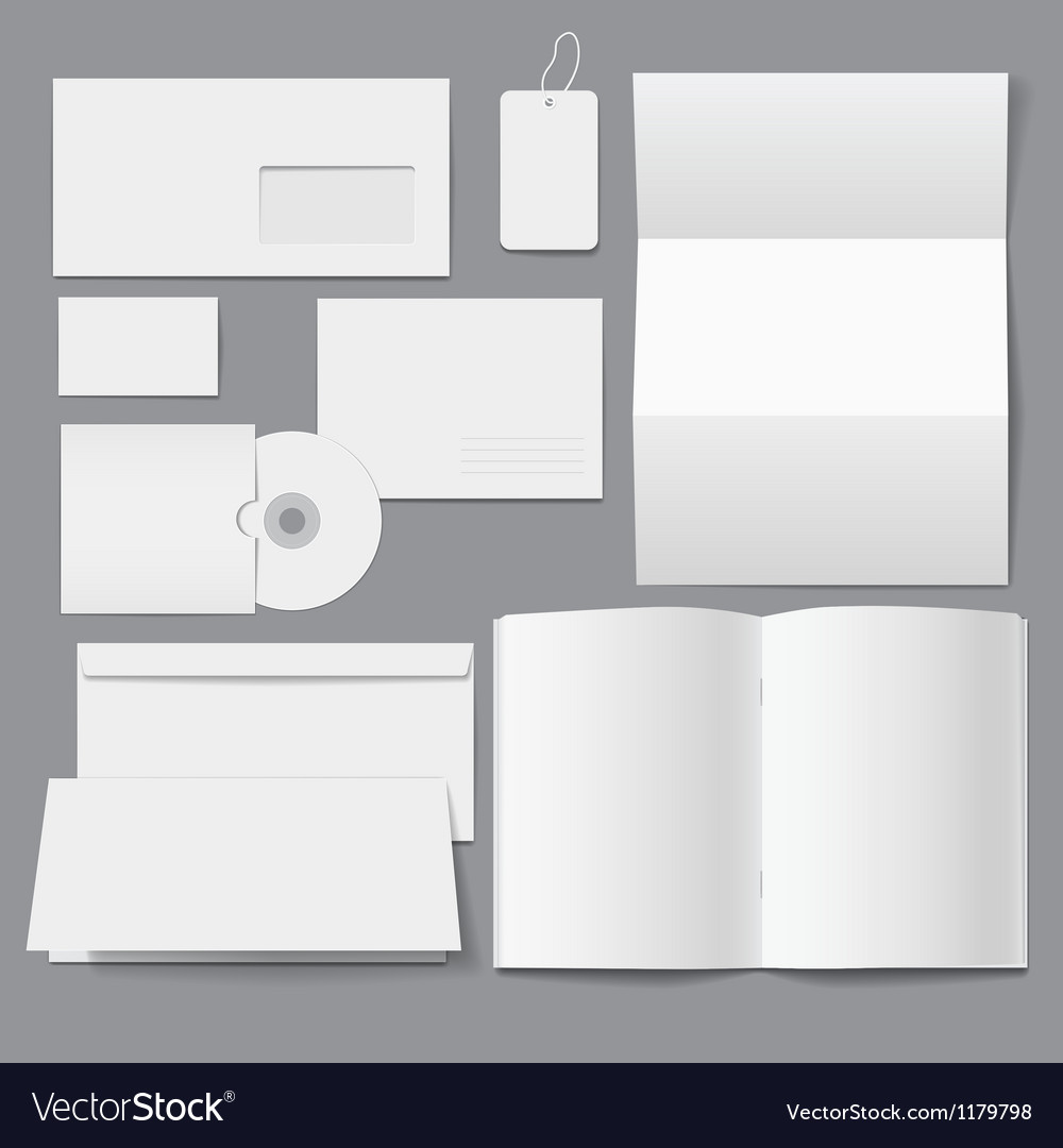 Blank Business Corporate Templates vector image