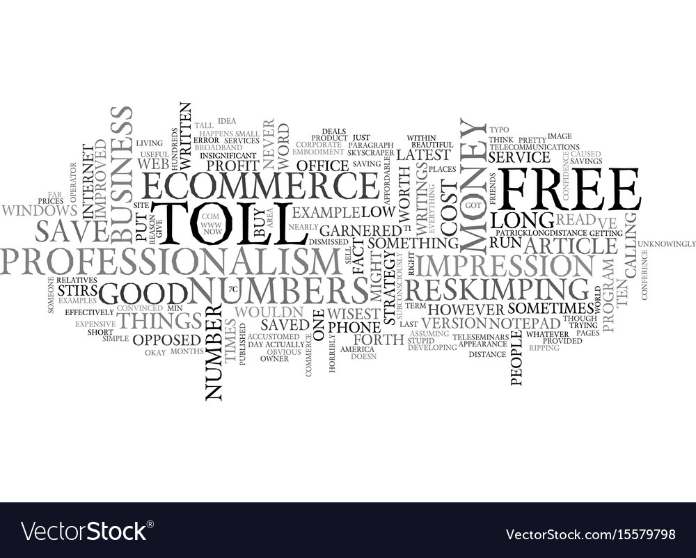 What s toll free numbers got to do with ecommerce vector image