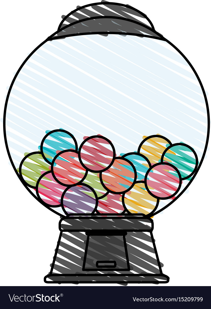 Candy vending machine icon image vector image