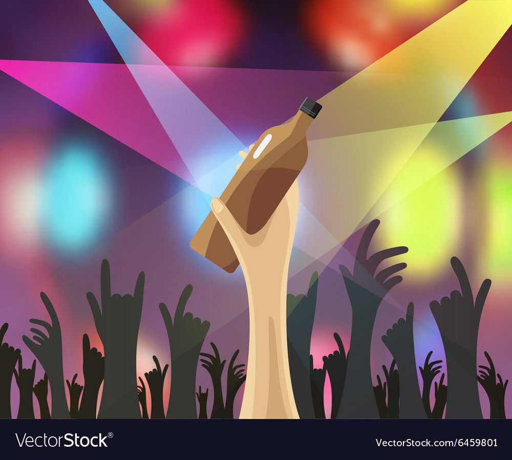 Disco night party concert vector image
