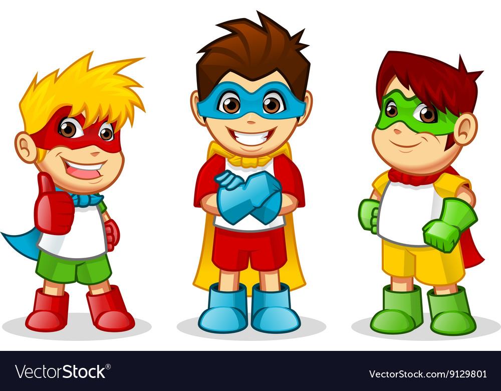 Kid Super Hero vector image