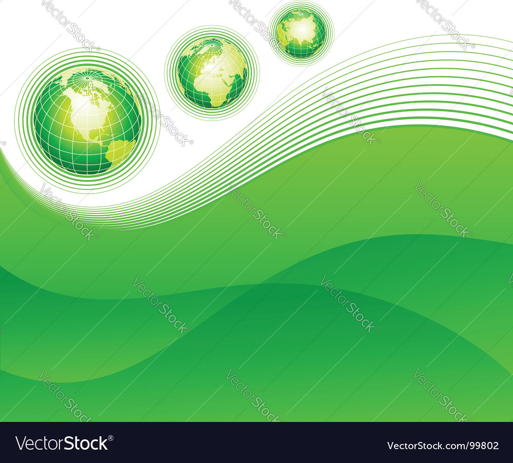 Abstract background with globes vector image