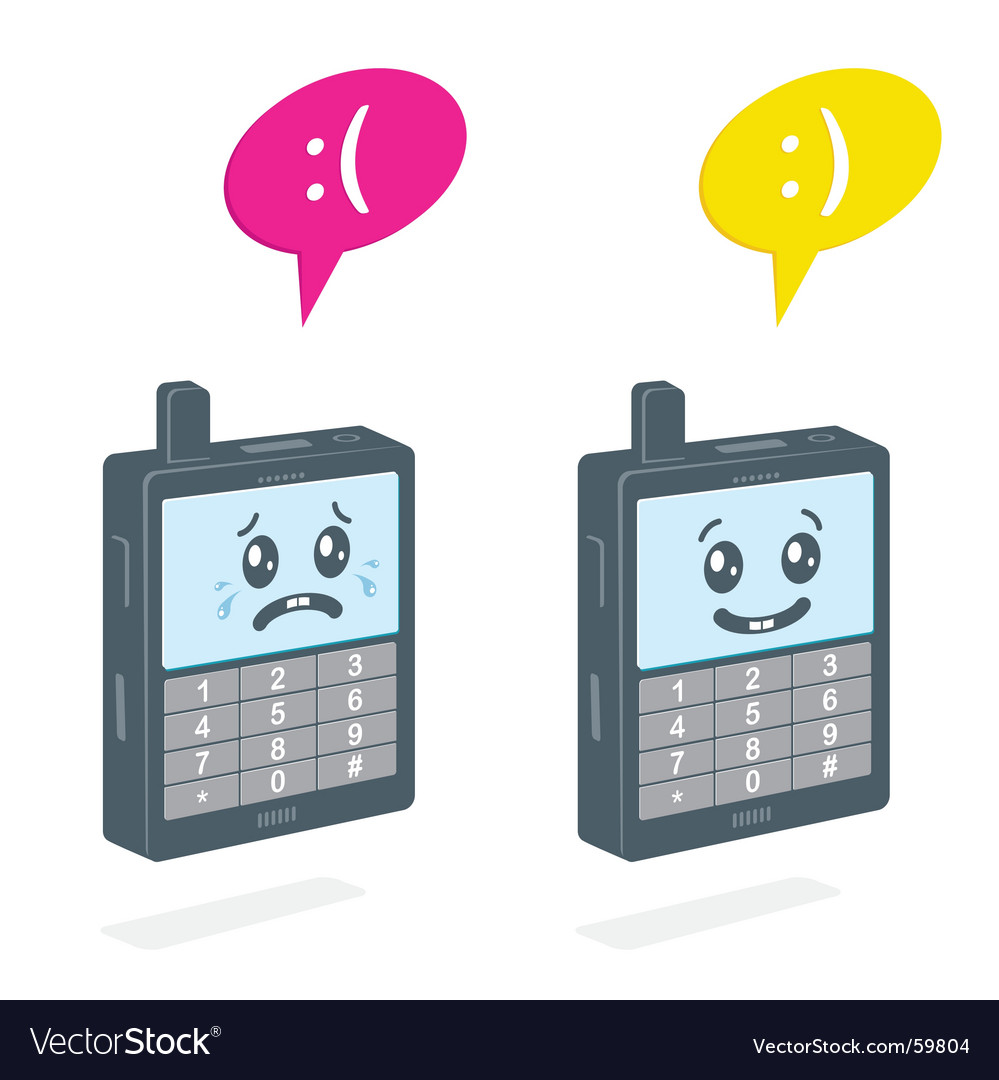 Text-messaging phone vector image