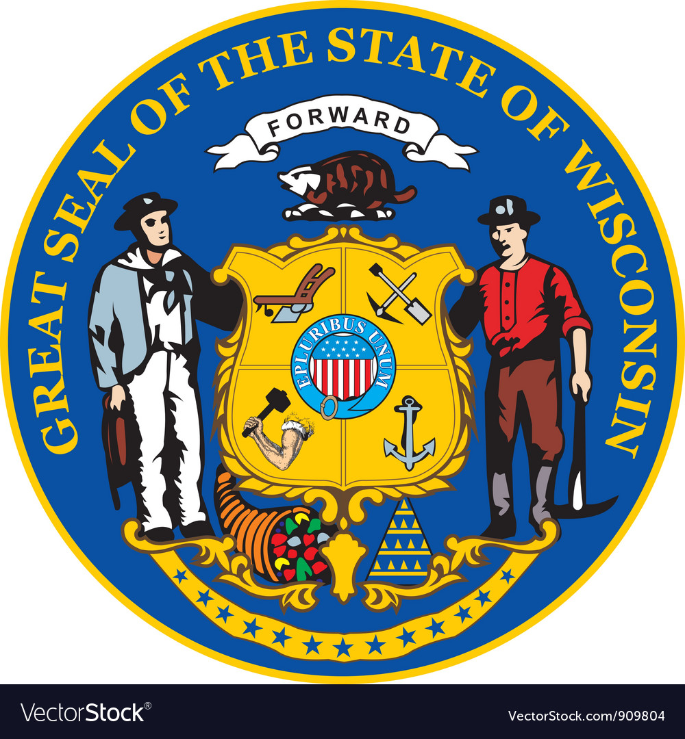 Wisconsin seal vector image
