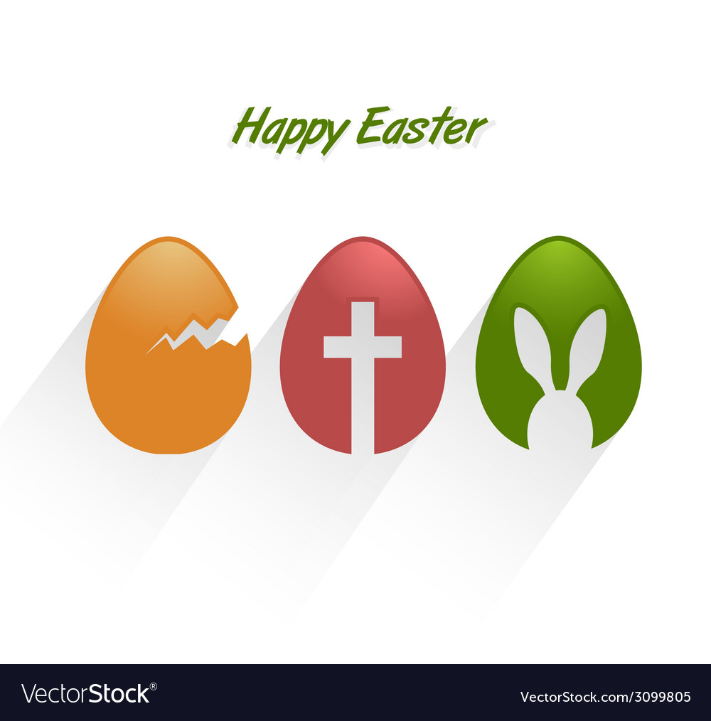 Easter decorative eggs vector image