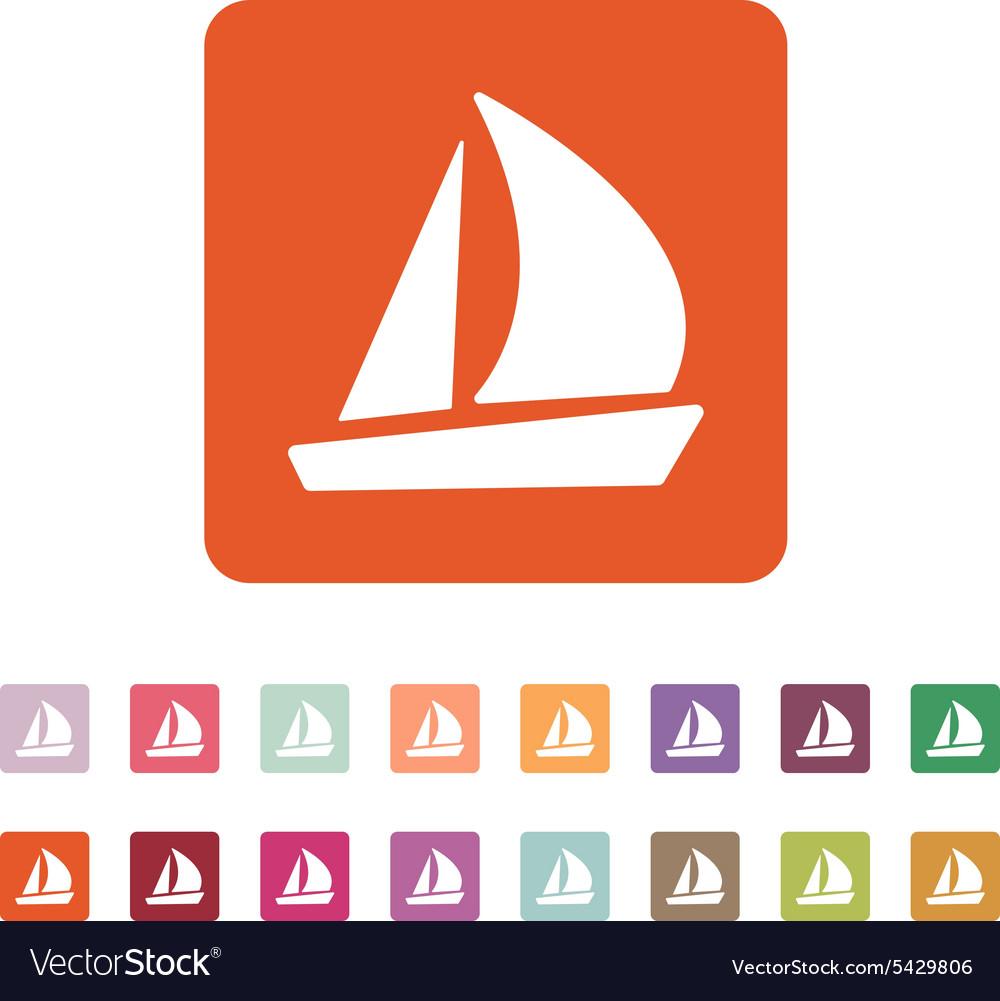The sailboat icon sailing ship symbol flat vector image the sailboat icon sailing ship symbol flat vector image buycottarizona