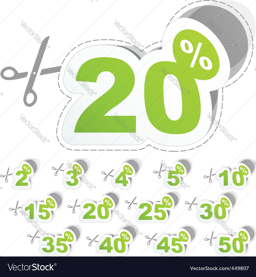 Discount stickers vector image