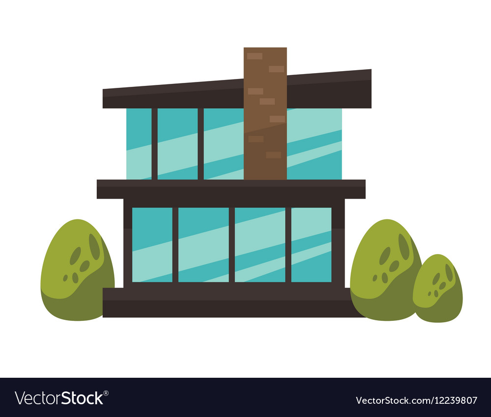 Architecture of modern urban house vector image