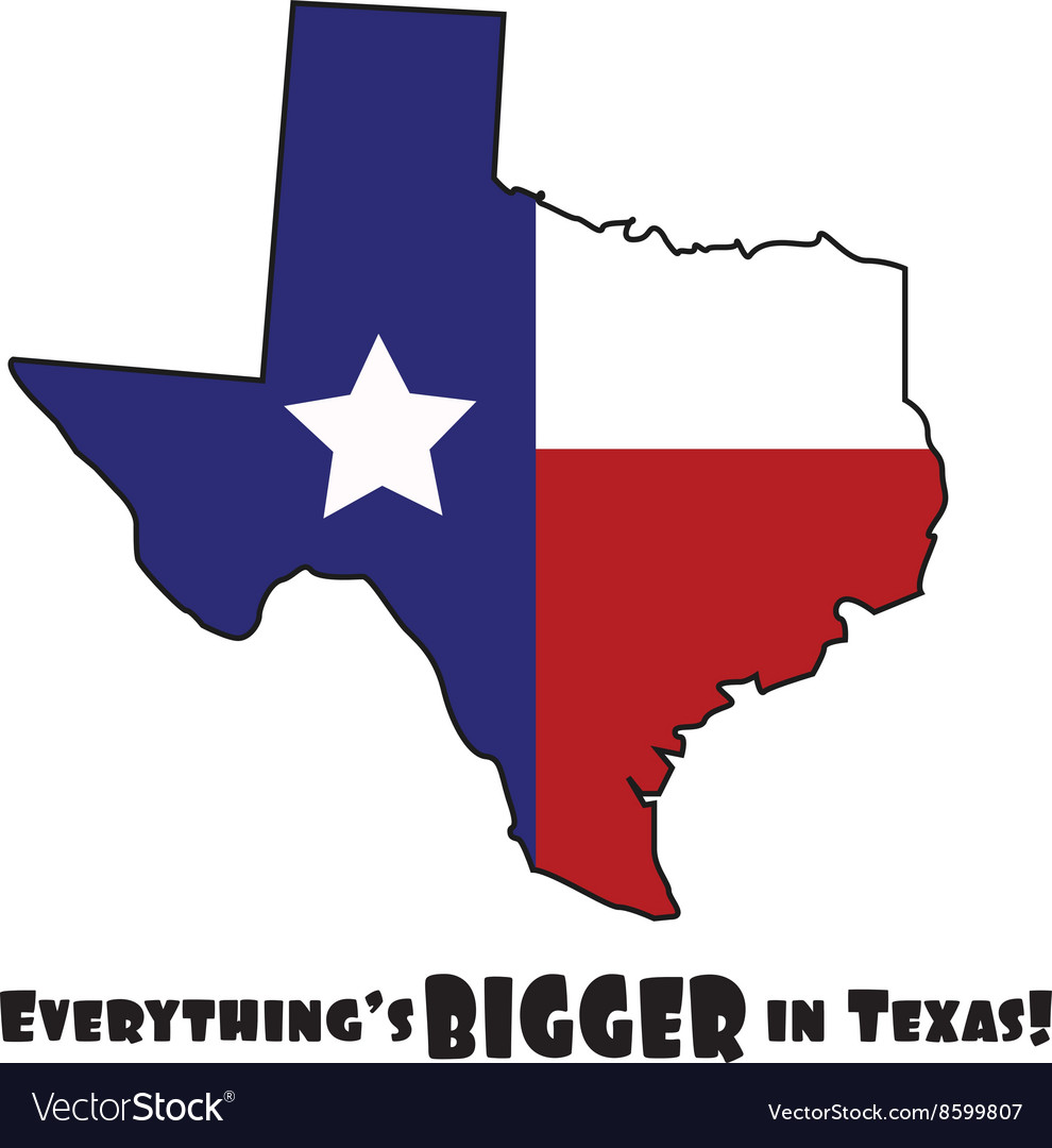 Texas Bigger vector image