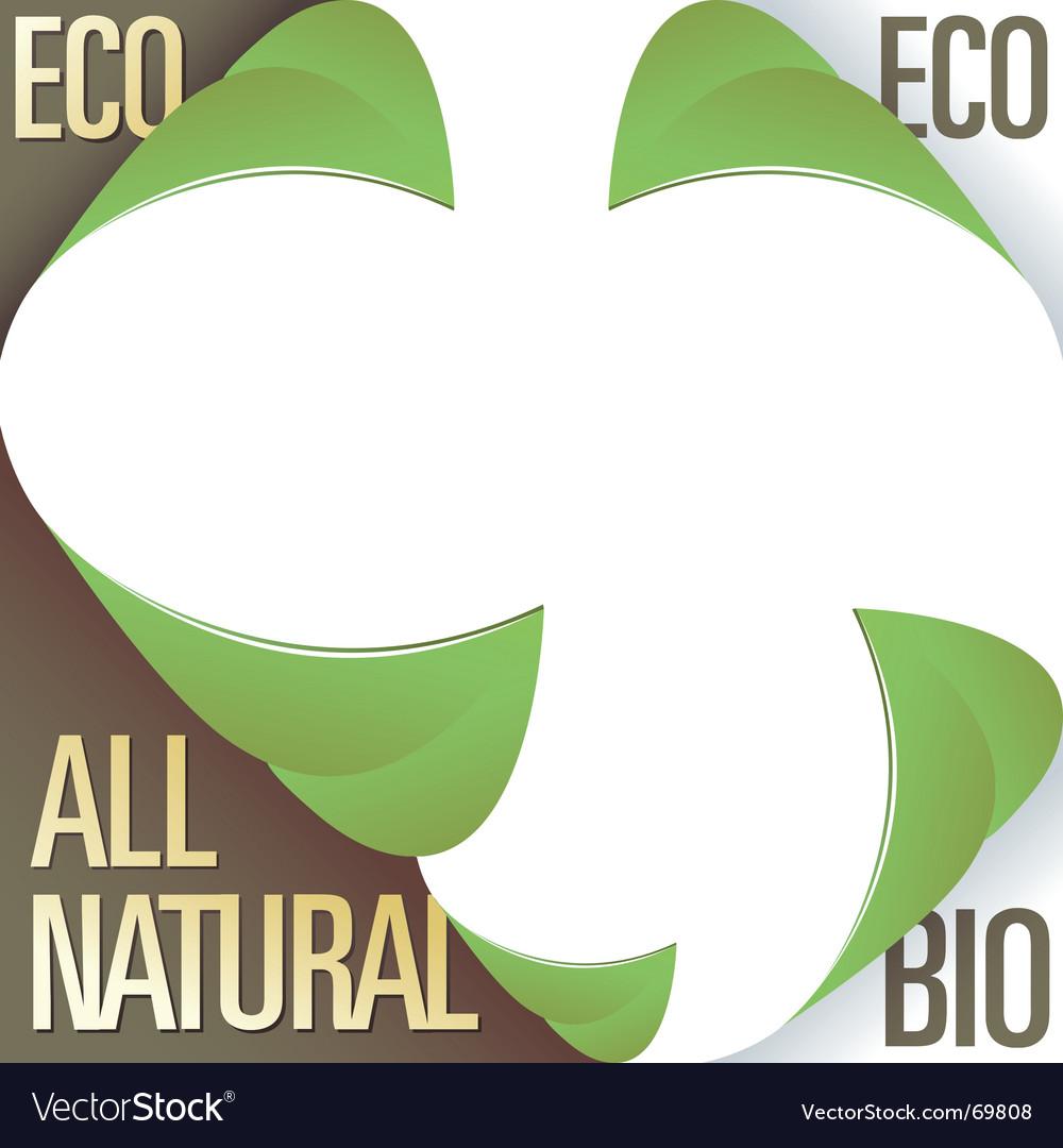 Eco bio and natural labels vector image
