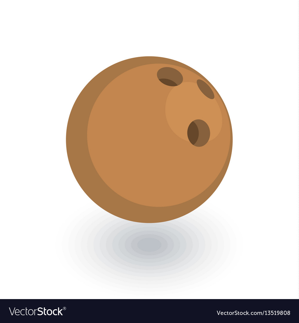 Bowling ball isometric flat icon 3d vector image