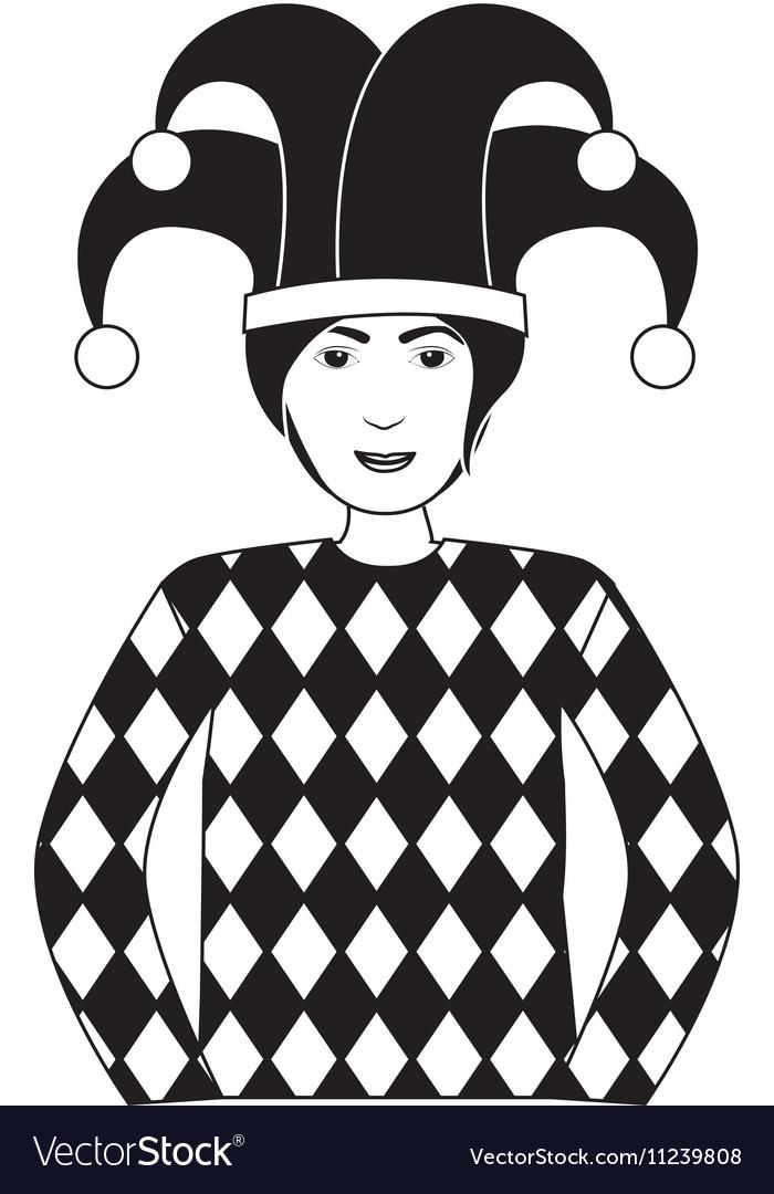 Jocker casino icon vector image