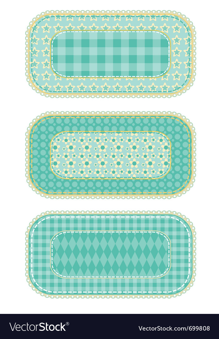 Patchwork set vector image