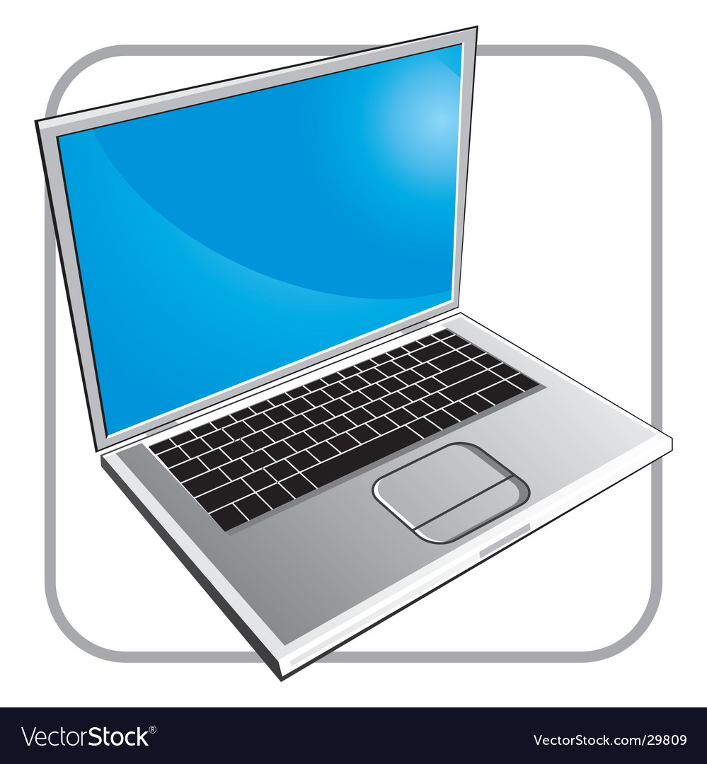 Notebook laptop vector image