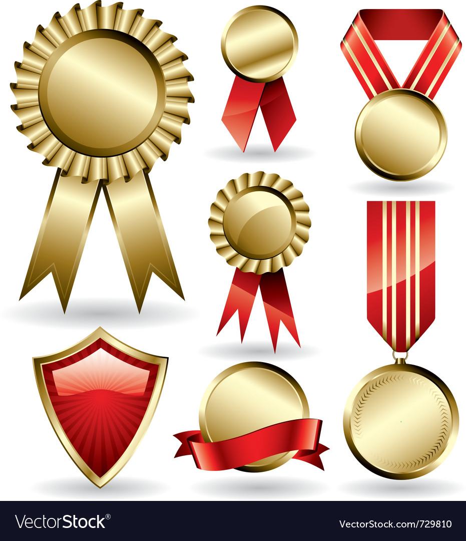 Award ribbons set Vector Image