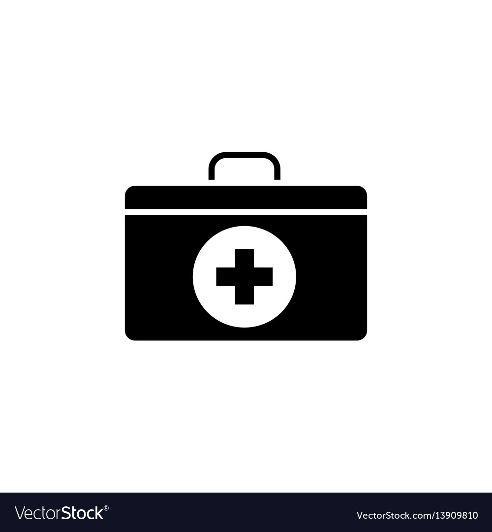 First aid box solid icon vector image