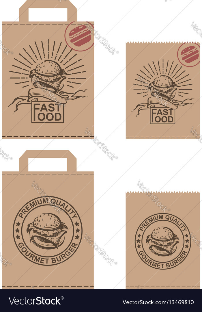 Image of package with burger vector image