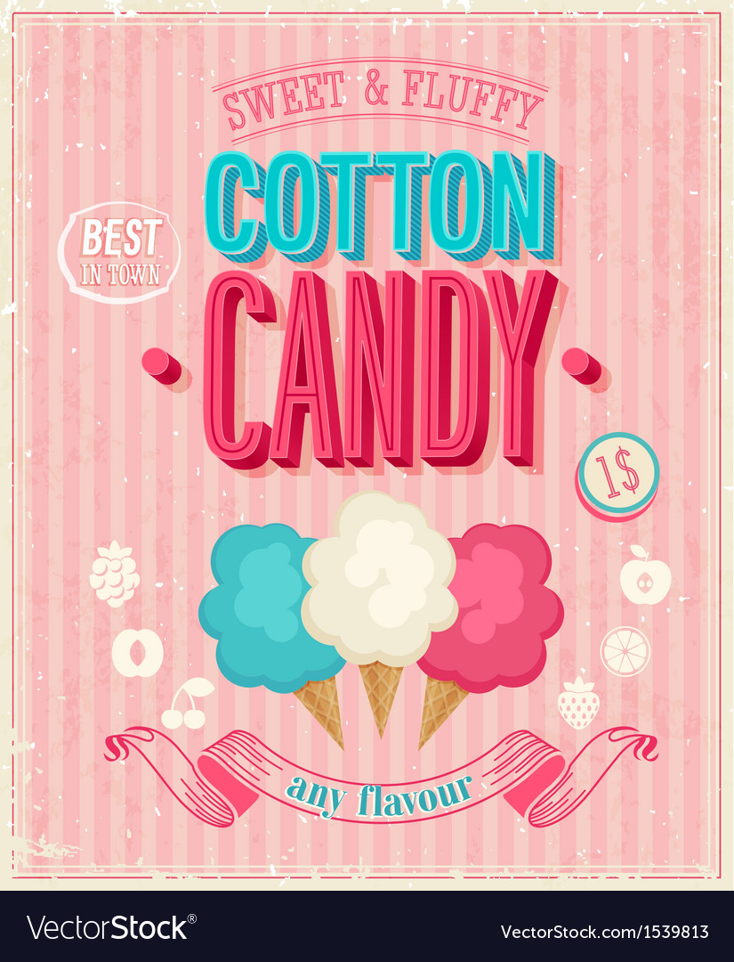 Cotton candy vector image