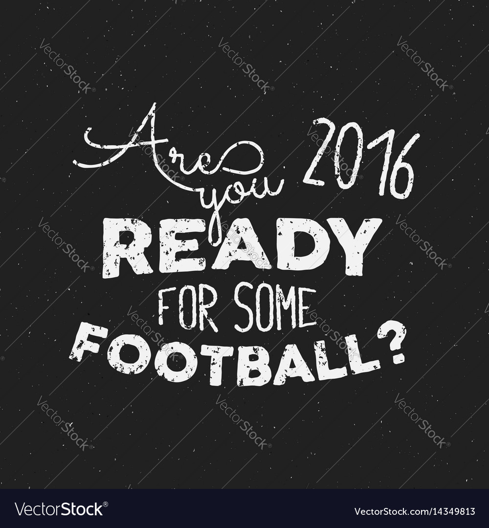 Football tee design retro football label soccer vector image