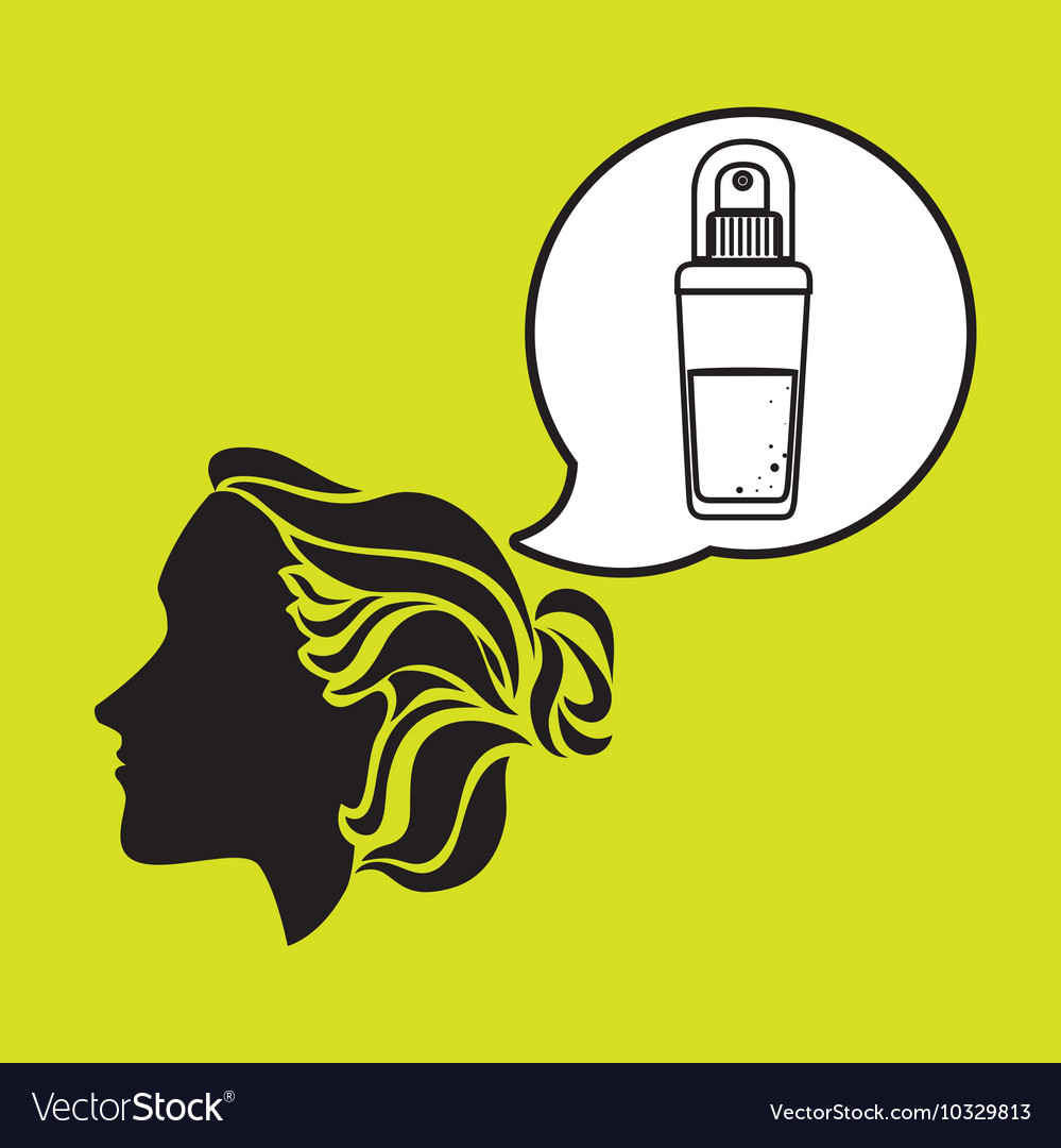 Silhouette cosmetic stylist icon vector image