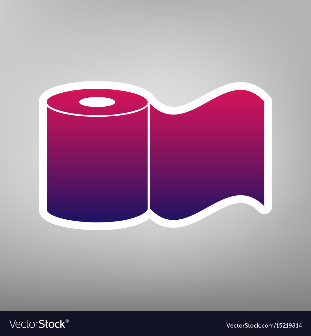 Toilet Paper Sign Purple Gradient Icon On Vector Image