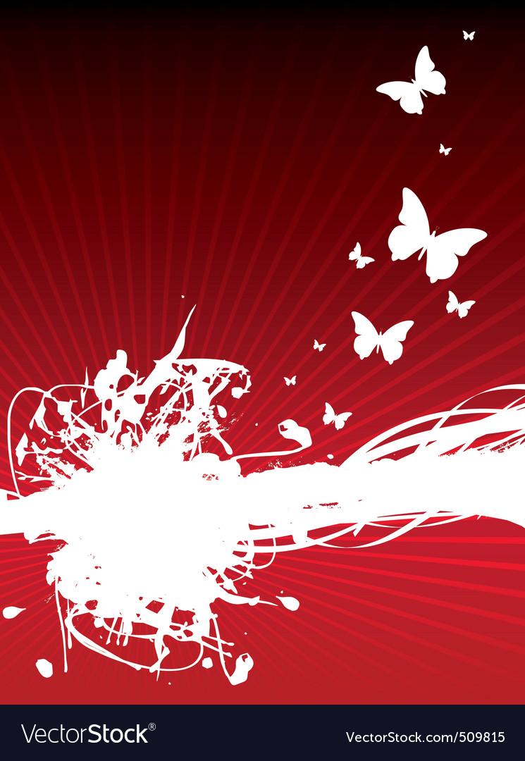 Butterfly splash background vector image