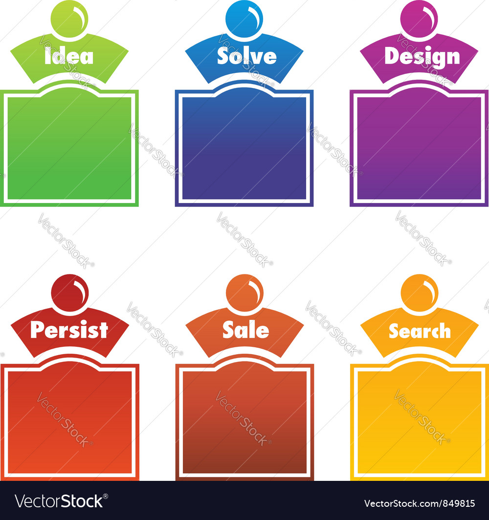 Infographic people vector image