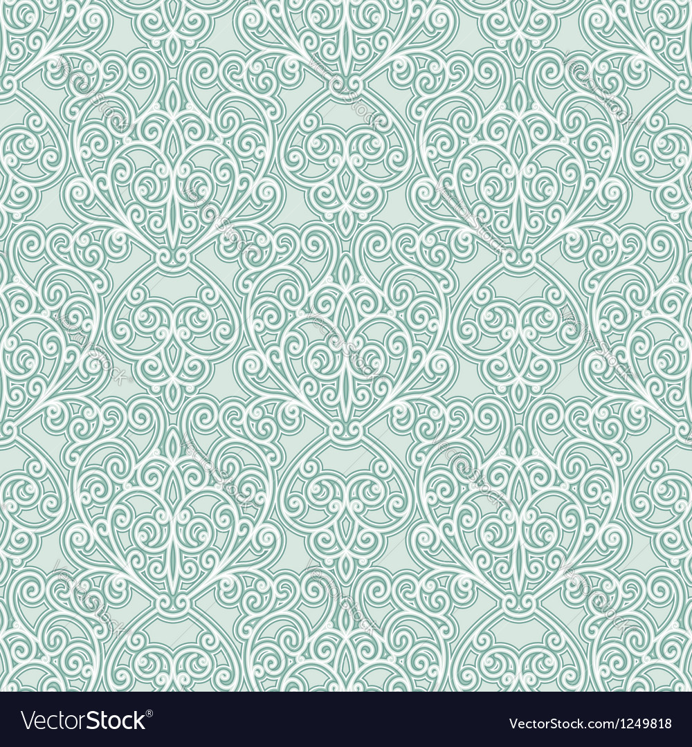 Abstract floral seamless pattern vector image