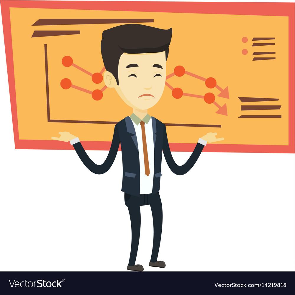 Bankrupt business man vector image