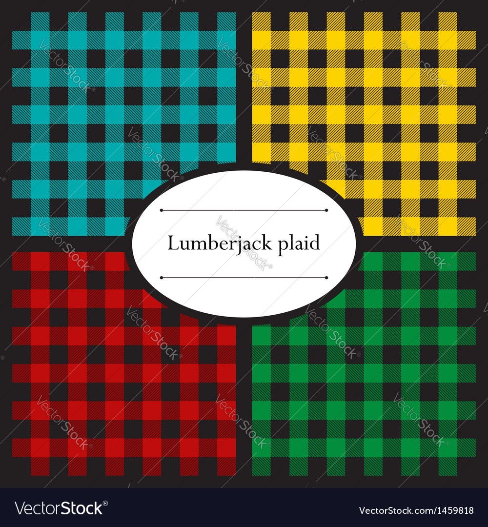 Set of lumberjack plaid patterns vector image