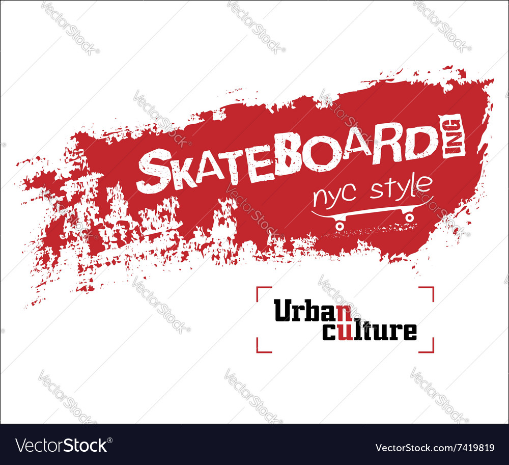 NYC skateboarding t-shirt vector image
