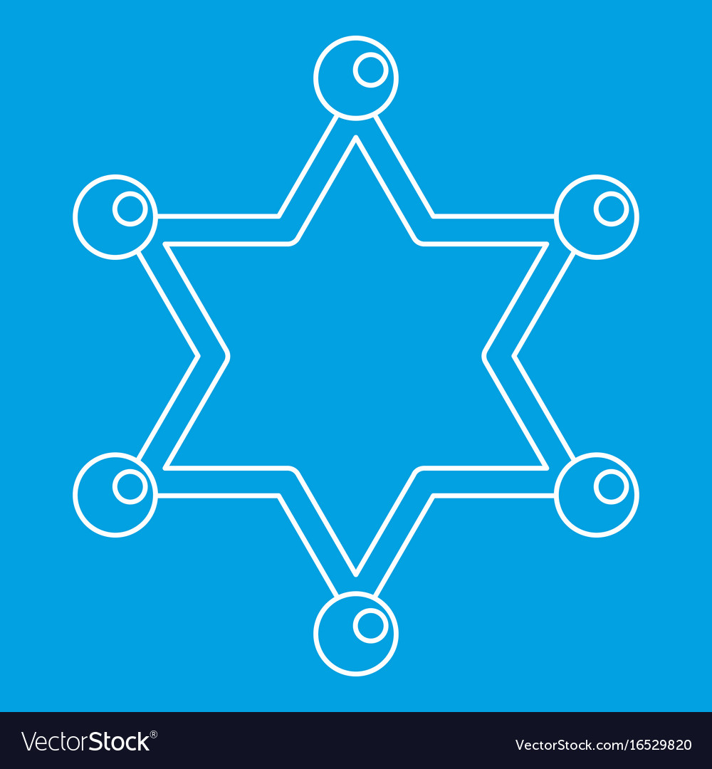 Sheriff star icon outline style royalty free vector image sheriff star icon outline style vector image sciox Images