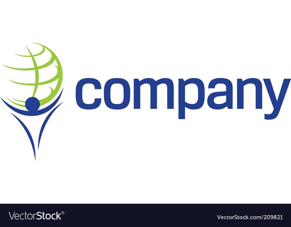 Finance world titan company logo vector image