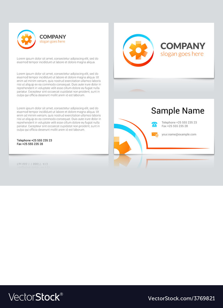 Medical Business Cards Royalty Free Vector Image